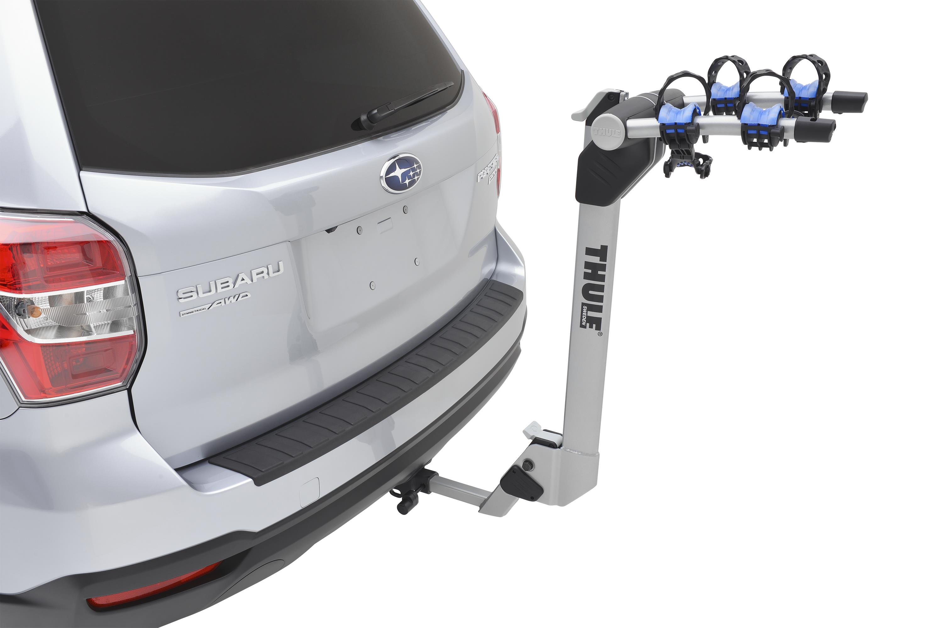 2017 Subaru Outback Hitch Mounted Bike Carrier Thule